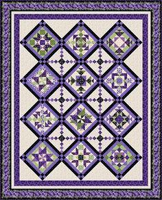 Quilt PATTERN Lovely in Lavender