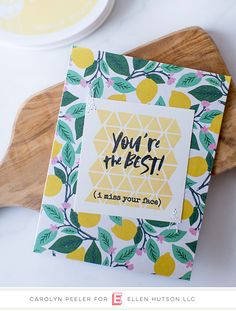 fb090ca11be Clean and Simple You re the best lemon card by Carolyn Peeler   essentialsbyellen