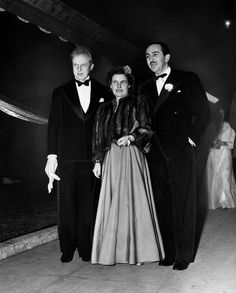 1941 Walt and Mrs. Disney and Leopold Stokowski at the premier of Fantasia.