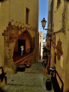 Castelsardo walking through the narrow streets - Sardinia