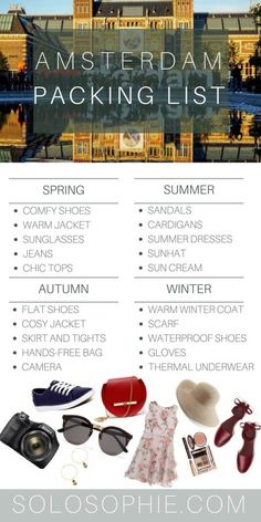 What to pack for Amsterdam, the Netherlands (fashion and outfit ideas, tips and tricks)