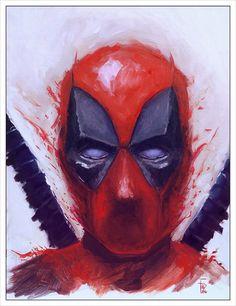 Deadpool - Sketch (Oil Paint), Filip Ivanović on ArtStation at… Pop Art Drawing, Art Drawings, Art Sketches, Art Painting Gallery, Superhero Movies, Marvel Dc Comics, Marvel Characters, Art Techniques, Dead Pool