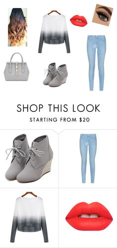 """""""Gris"""" by lexusgq on Polyvore featuring WithChic, 7 For All Mankind, Lime Crime, women's clothing, women's fashion, women, female, woman, misses and juniors"""