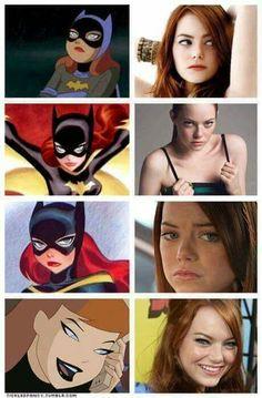 Have to agree. She'd be the perfect Barbara Gordon. Warner Studios, Dc Icons, Barbara Gordon, Emma Stone, Batgirl, Halloween Face Makeup, It Cast, The Originals, Batman