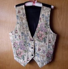 '90s Floral Vest - I wore one of these on my very first date, lol