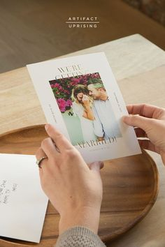 Make your wedding date official with an Artifact Uprising Save the Date.