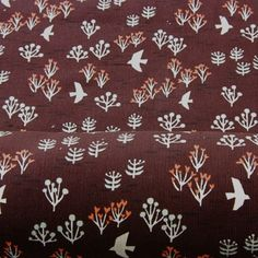 Japanese Printed Needlecord - Brown Forest