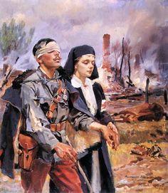 Wounded Soldier - Wojciech Kossak