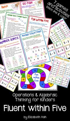 Individual and group activities to build fluency and confidence! $ #kindergartenmath #fluencywithin5