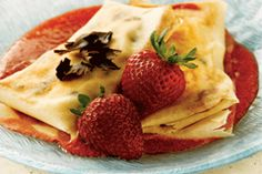 Chocolate Chip and Strawberry Crêpe #CAStrawberriesPIN2WIN