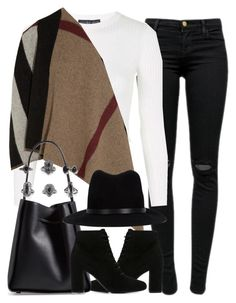 """""""Untitled #3816"""" by london-wanderlust ❤ liked on Polyvore featuring J Brand, Topshop, Burberry, Yves Saint Laurent, 3.1 Phillip Lim, rag & bone and BKE"""