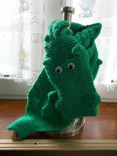sciarpa drago in lana fatto a mano