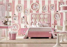 Pink poodle Bedroom