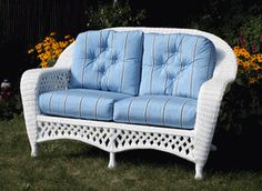 Barbie's  Dream House wicker... In my size!   Love seat design from the Montauk Collection