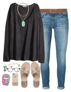 """""""@emmig02 is a true best friend! go follow her❤️"""" by judebellar03 ❤ liked on Polyvore featuring Current/Elliott, M&Co, H&M, Jack Rogers, Kendra Scott, GlassesUSA, Casetify and Lilly Pulitzer"""