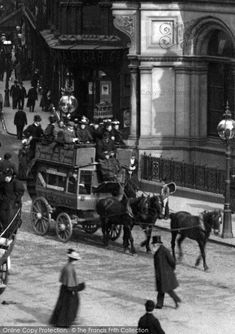 Birmingham, Horse Drawn Bus In New Street 1896, from Francis Frith
