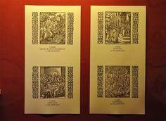 """Quattro riproduzioni di incisioni tratte dalla """"Biblia Sacra"""" edita a Lione nel 1558 (Photo by Franco Rabino) Rabbi, Bible"""