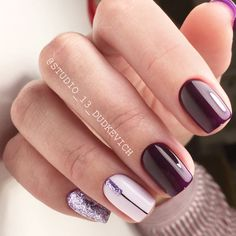 Winter Nails Designs - My Cool Nail Designs Purple Nails, Nude Nails, Acrylic Nails, Burgundy Nails, Coffin Nails, Winter Nail Designs, Nail Art Designs, Nails Design, Hair And Nails
