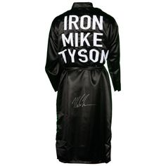 Mike Tyson Fanatics Authentic Autographed Black Boxing Robe da8961f04