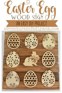Easter Egg Wood Sign - an easy diy project!