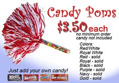 candy poms - SO have to have these for next season!!!