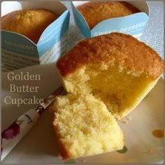 My Mind Patch: Golden Butter Cupcakes 金黄牛油杯子蛋糕 Butter Cupcakes, Cornbread, Cheese, Ethnic Recipes, Food, Millet Bread, Essen, Meals, Yemek