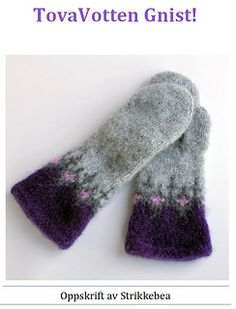 Ravelry: Tovavotten Gnist pattern by StrikkeBea Mittens, Ravelry, Gloves, Knitting, Accessories, Fiber, Creative, Fingerless Mitts, Tricot