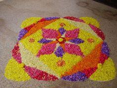 Flower rangoli, India