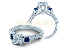 It's the new 904P4 from the Classic Collection, featuring diamonds and Sapphires. Starting at $2100. Find out more about this engagement ring at http://www.verragio.com