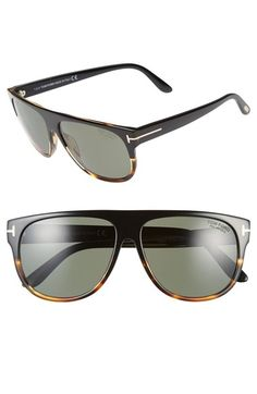 f704c615ee Tom Ford  Kristen  59mm Polarized Aviator Sunglasses available at   Nordstrom Flat Top Sunglasses