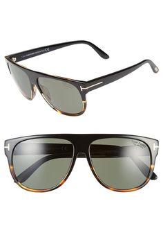 41ca70e510c Tom Ford  Kristen  59mm Polarized Aviator Sunglasses available at   Nordstrom Flat Top Sunglasses