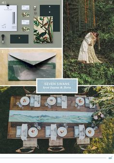 Swan Love - the wildernis Seven Swans, Swan Love, Rustic Wedding, Wedding Ideas, Whatsapp Message, Paper Goods, Wedding Stationery, Green Colors, Big Day