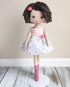 """282 Likes, 14 Comments - SpunCandy Dolls ~ Omaha, NE (@spuncandydolls) on Instagram: """"I just love her little dress I think I might do one for the blond doll too. Looks so nice. …"""""""