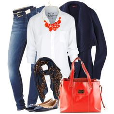 love the orange accessories!