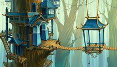 Ninja location by Anastasia Kudriavtseva, via Behance