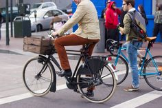 A stylish gentleman rides a dutch bike in downtown San Francisco Dutch Bicycle, Bike Messenger, Cycle Chic, Norma Jean, Young Models, Gentleman, Stylish, San Francisco, Pretty