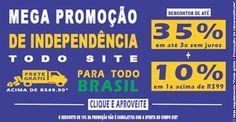 Até 35% off + 10% off + Frete grátis* para todo Brasil nas compras acima de 49,90