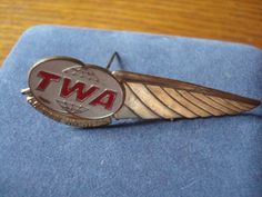 Vintage Trans World Airlines Junior Hostess Wings