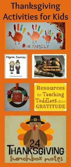 Thanksgiving Activities for Kids including family hand print art, free printables, songs and more!