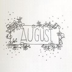 """157 Likes, 1 Comments - R O C K T H I S J O U R И A L (@rockthisjournalnl) on Instagram: """"It's August! Kinda like my cover page tho. • • • • • #bullet #journal #bulletjournal #planning…"""""""