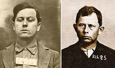 Brothers Emmet (above, left) and Grat Dalton (above, right) career as bank robbers ended in a hail of bullets after they tried to rob the Condon Bank in Coffeyville, Kansas, October – True West Archives – Coffeyville Kansas, Old West Outlaws, Hatfields And Mccoys, Bank Robber, My Family History, October 5, Gangsters, Bullets, Mug Shots
