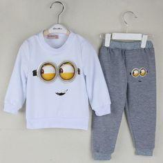 Minion Print Full Sleeve Baby Boy Clothing Sets