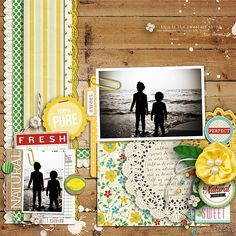 "margelz layout with Sahlin Studio / One Little Bird Digital ""Fresh"" kit"