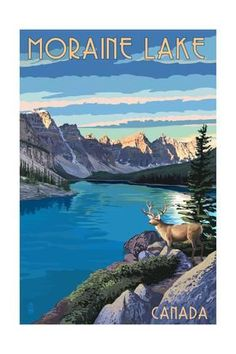 Canada 24x36 Reprint POSTER CHATEAU LAKE LOUISE PICTURE WINDOW c.1930 Alberta
