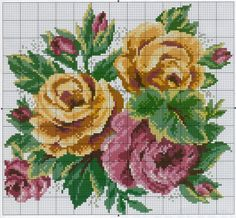 Designing Your Own Cross Stitch Embroidery Patterns - Embroidery Patterns Cross Stitch Rose, Cross Stitch Flowers, Cross Stitch Charts, Cross Stitch Designs, Cross Stitch Patterns, Cross Stitching, Cross Stitch Embroidery, Free To Use Images, Hand Embroidery Patterns