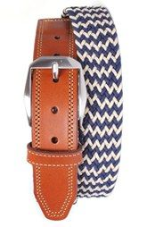 Martin Dingman 'Beck' Stretch Belt available at Tall Men Fashion, Mens Fashion, Maine, Top Clothing Brands, Woven Belt, Stretch Belt, Reversible Belt, Fall Accessories, Tall Guys