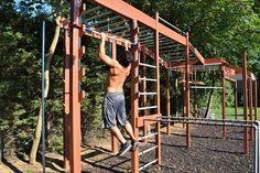 Kids Ninja Warrior, Ninja Warrior Course, American Ninja Warrior, Outdoor Jungle Gym, Outdoor Gym, Outdoor Playground, Backyard Gym, Backyard Obstacle Course, Patio