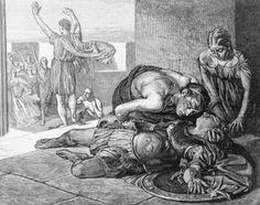 "Morte de Eucles Depois da Batalha de Maratona. Imagem: ""Death of Eucles After Battle of Marathon"". Bettmann/CORBIS. ID: RF573."