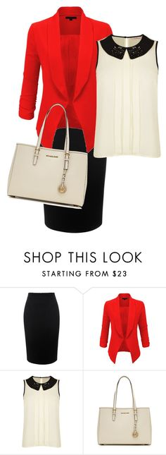 """""""Very sophisticated.... Yay"""" by apostolicme14 ❤ liked on Polyvore featuring Alexander McQueen, LE3NO, Darling and MICHAEL Michael Kors"""