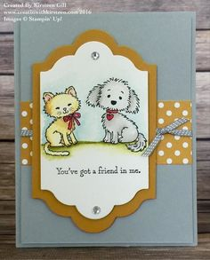 by Kirsteen: Bella & Friends, Pretty Kitty, In Color dsp stack, Lots of Labels framelits - all from Stampin' Up!